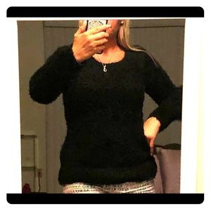 Sweaters - Black  sweater with gold accents